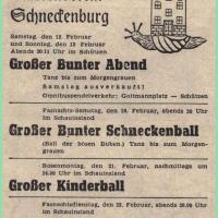 Das Fasnachtsprogramm der Schneckenburg.