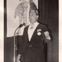 Bunter Abend: Präsident Konti Uetz begrüßt die Gäste.