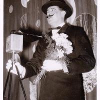 Jubiläums-Abend: Als erster Gratulant erschien Ansager Robert Borho.