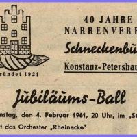 40 Jahre Schneckenburg: Jubiläums-Ball im Schützen.