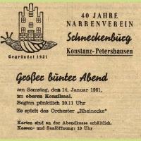 40 Jahre Schneckenburg: Jubiläums-Abend im Konzil.