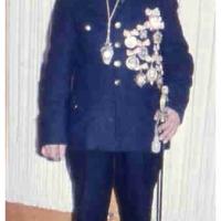 "Narrenpolizist ""Bollin"" in seiner Gala-Uniform."