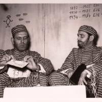 Bunter Abend im Schützen: Eine Nacht im Gefängnis verbrachten Walter Stöß und Paul Bischoff.