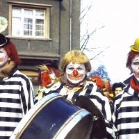 Schmutziger Donnerstag: Werner Mutter, Paul Bischoff und Walter Stöß von der Clowngruppe.