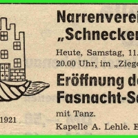 Fasnachts-Eröffnung im Ziegelhof.