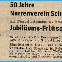 50 Jahre Schneckenburg: Frühschoppen im Konzil.