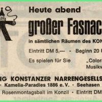 Grosser Fasnachtsball im Konzil.