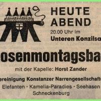 Rosenmontagsball im Konzil.