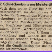Fanfarenzug um Meistertitel.