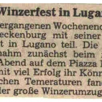 Der Fanfarenzug beim Winzerfest Lugano.