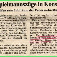 Fanfarenzug zweiter Rang beim Strassenspiel.