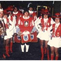 Fanfarenzug und Garde in Nizza: Gruppenbild mit Elferrat Ewald Volz (links).