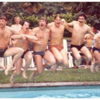 Fanfarenzug-Reise nach Locarno: Der Hotel-Pool wurde sofort in Beschlag genommen.