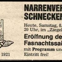 Fasnachtseröffnung der Schneckenburg im Ziegelhof.