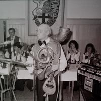 Fasnachtseröffnung im Ziegelhof: Ewald Volz als Musikus
