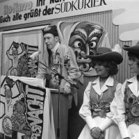 Schmutziger Donnerstag: Die Garde der Schneckenburg beim Südkurier.