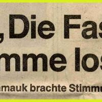 Narrenkonzerte im Konzil: Überschrift des Südkurier-Artikels.