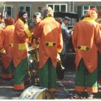 Am Rosenmontag besuchte die Clowngruppe traditionell den Hindenburgblock.