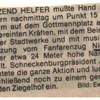 Schmutziger Donnerstag: Südkurier-Artikel mit falschem Namen des Fanfarenzuges.