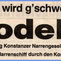 Narrenkonzerte im Konzil: Südkurier-Bericht.