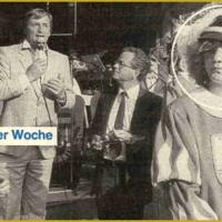 Der Fanfarenzug der Schneckenburg eröffnete mit Oberbürgermeister Eickmeyer, Bürgermeister Fischer und Stadtrat Weber das Petershäusler Stadtteilfest. Silvia Moser war in jener Woche das Suchbild des Konstanzer Anzeigers.