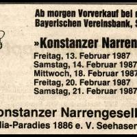 Narrenkonzerte im Konzil: Südkurieranzeige.