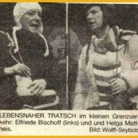 Narrenkonzerte im Konzil: Trasch ohne Grenzen. Mit Elli Bischoff und Helga Matheis.