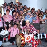 Frühschoppenkonzert im Konzil: Die Clowngruppe vor dem Auftritt.