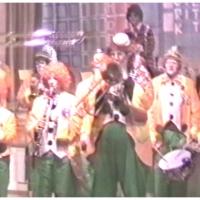 Rosenmontag: Die Clowngruppe im Saal der PLK.