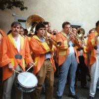 Inoffizielle Weinfesteröffnung mit der Clowngruppe.