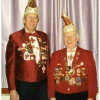 70 Jahre Schneckenburg: Die Jubilar-Elferräte Werner Mutter (links) und Walter Buck (rechts).