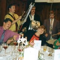 40 Jahre Elferrat: Die Clowngruppe umrahmte den Abend musikalisch.