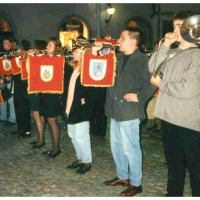 40 Jahre Elferrat: Der Fanfarenzug spielte zum Auftakt.