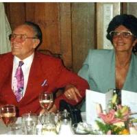 40 Jahre Elferrat: Jubilar Alex Volz mit Frau Clair.