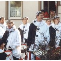 Schmutziger Donnerstag: Der Fanfarenzug vor dem Ziegelhof.
