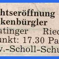 Schneeschreckerwachen: Zeitungsartikel.