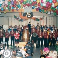 75 Jahre Schneckenburg: Durch den Abend begleitete der Wollmatinger Musikverein.
