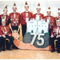 75 Jahre Schneckenburg: Der aktuelle Elferrat der Schneckenburg im Jahre 1996.