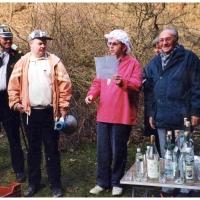 Narrenbaumholen in Hegne: Die Präsidenten Martin Kininger und Alex Volz bei der Eröffnung.