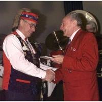 Verabschiedung von Präsident Alex Volz: Auch Landvogt Wolfgang Jensch war unter den Gratulanten.