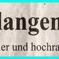 Verabschiedung von Präsident Alex Volz: Zeitungsartikel.