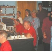 11.11. in der Linde: Hinter der Technik wurde das Programm verfolgt.