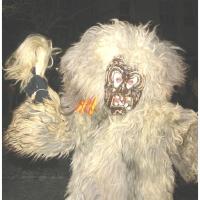 Der Schneeschreck beim Nachtumzug in Dornstadt. Wild sieht er aus.