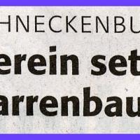 Narrenbaumstellen auf dem Gottmannplatz: Zeitungsartikel.