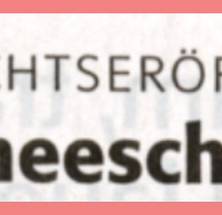 Schneeschreckerwachen in der Unikurve: Zeitungsüberschrift.