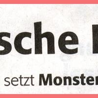 Narrenbaumstellen auf dem Gottmannplatz: Zeitungsüberschrift.