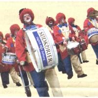 Rosenmontag: Auch der Südkurier warb mit der Clowngruppe.