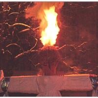 Verbrennung auf dem Stephansplatz. Die brennende Puppe.