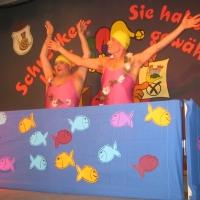 11.11. in der Linde: Synchronschwimmen mit Armin Ott und Hubert Weber.