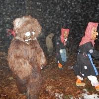 Schneeschreckerwachen in der Uni-Kurve: Schneeschrecken und Riedhexen kamen aus dem Wald.